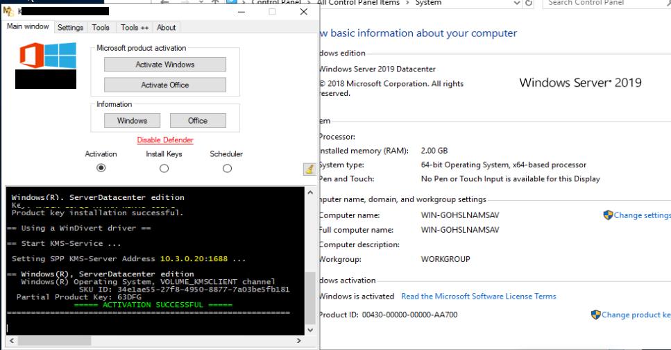 Windows Server 2019 DataCenter ESD 1809 Build 17763 503 May 2019