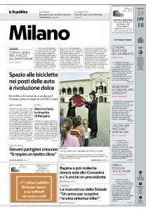 la Repubblica Milano - 23 Settembre 2018