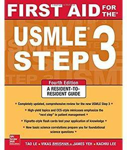 First Aid for the USMLE Step 3 (4th edition) [Repost]