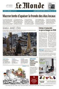 Le Monde du Mercredi 22 Novembre 2017