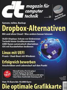 c't Magazin Nr.23 - 27 Oktober 2018