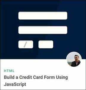 TutsPlus - Build a Credit Card Form Using JavaScript