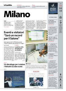 la Repubblica Milano - 16 Aprile 2018