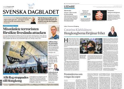 Svenska Dagbladet – 13 augusti 2019