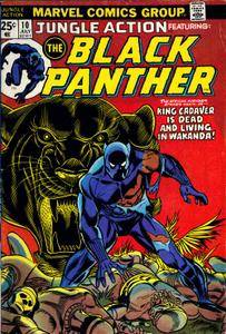Jungle Action v2 010 007-1974 featuring Black Panther