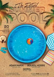 Summer Pool Party Flyer- PSD Template