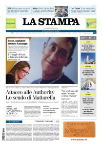 La Stampa Torino Provincia e Canavese - 12 Ottobre 2018
