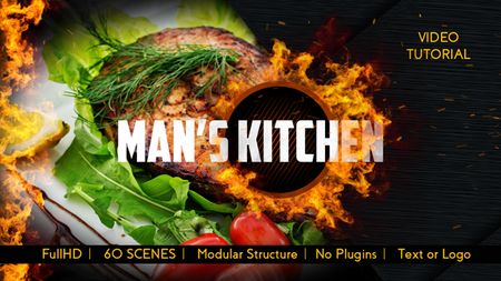 Men's Kitchen Menu - Project for After Effects (VideoHive)
