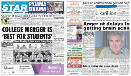 Shropshire Star Shrewsbury Edition – February 05, 2018