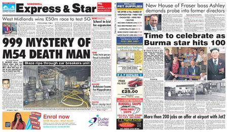 Express and Star Sandwell Edition – September 04, 2018