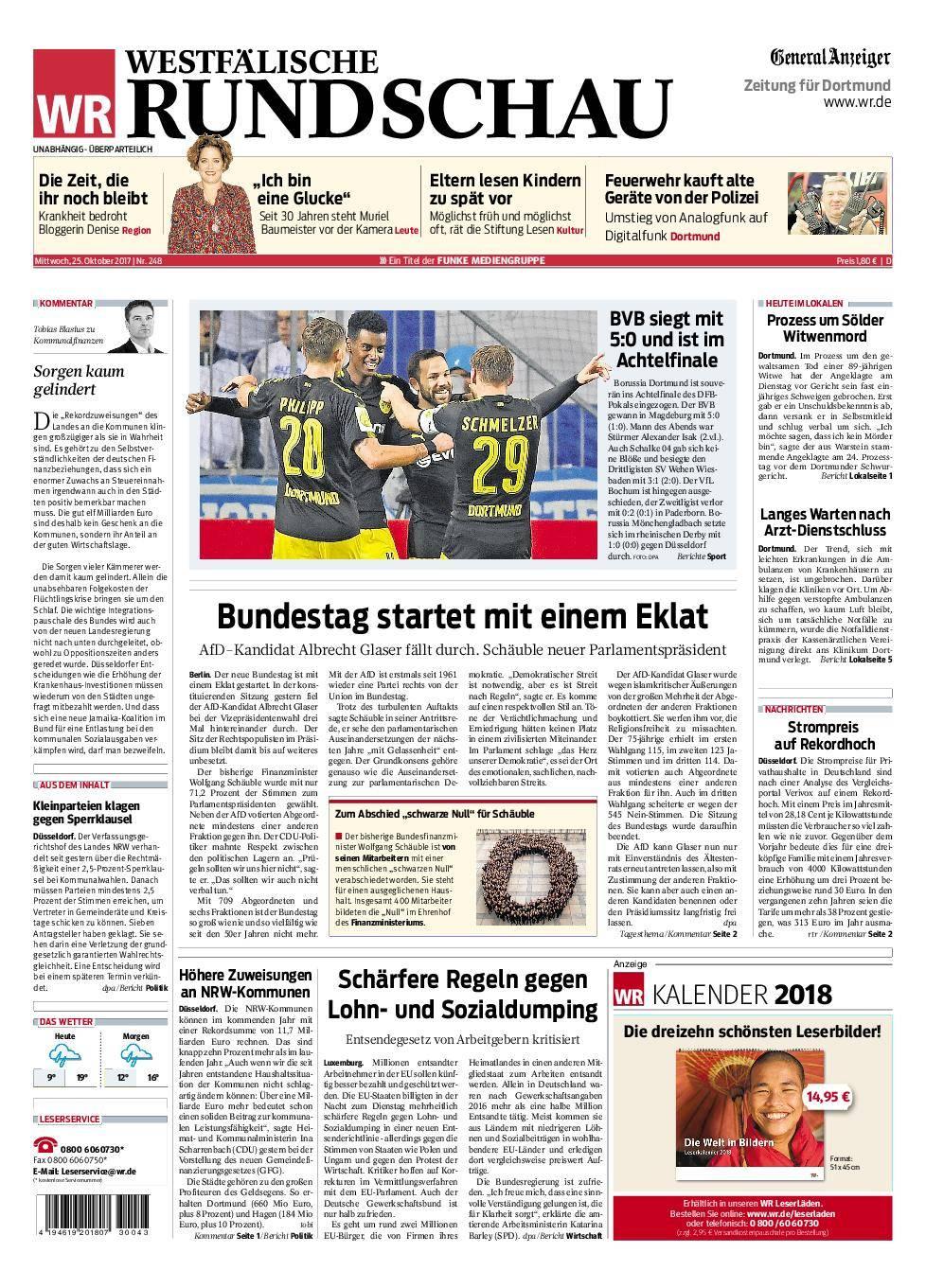 Westfälische Rundschau Dortmund-Süd II - 25. Oktober 2017