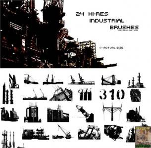 24 Hi-Res Industrial Brushes