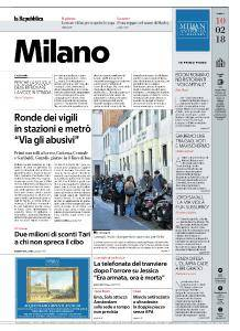 la Repubblica Milano - 10 Febbraio 2018