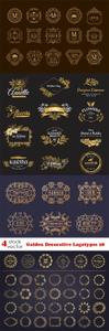 Vectors - Golden Decorative Logotypes 28