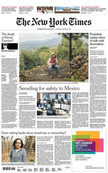 International New York Times - 11 January 2018