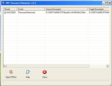 Portable PDF Password Remover ver. 2.5