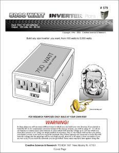 How to build a +5000 Watt Inverter [Plans]