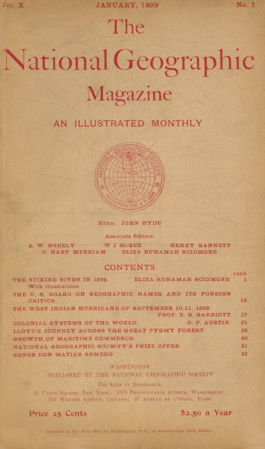 National geographic 1899