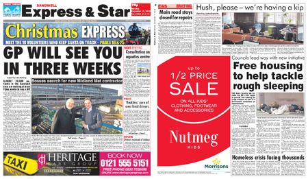 Express and Star Sandwell Edition – December 17, 2018