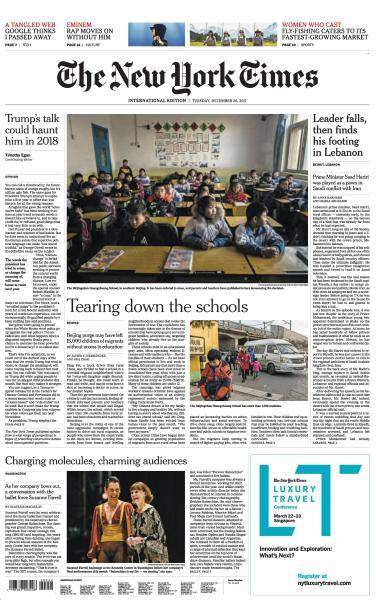 International New York Times - 26 December 2017