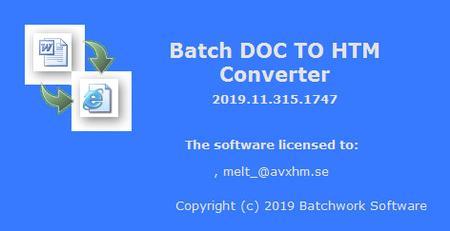 Batch DOC to HTM Converter 2019.11.315.1747
