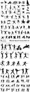 Vectors - Black Sport Icons Set 10