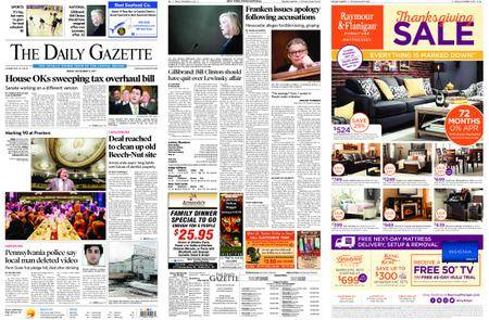 The Daily Gazette – November 17, 2017