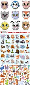 Vectors - Funny Cartoon Animals 72