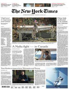 International New York Times - 18 October 2017