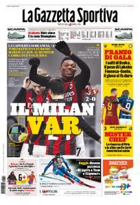 La Gazzetta dello Sport Roma – 10 gennaio 2021
