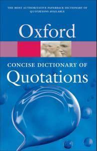 Concise Oxford Dictionary of Quotations, 5th Edition (repost)