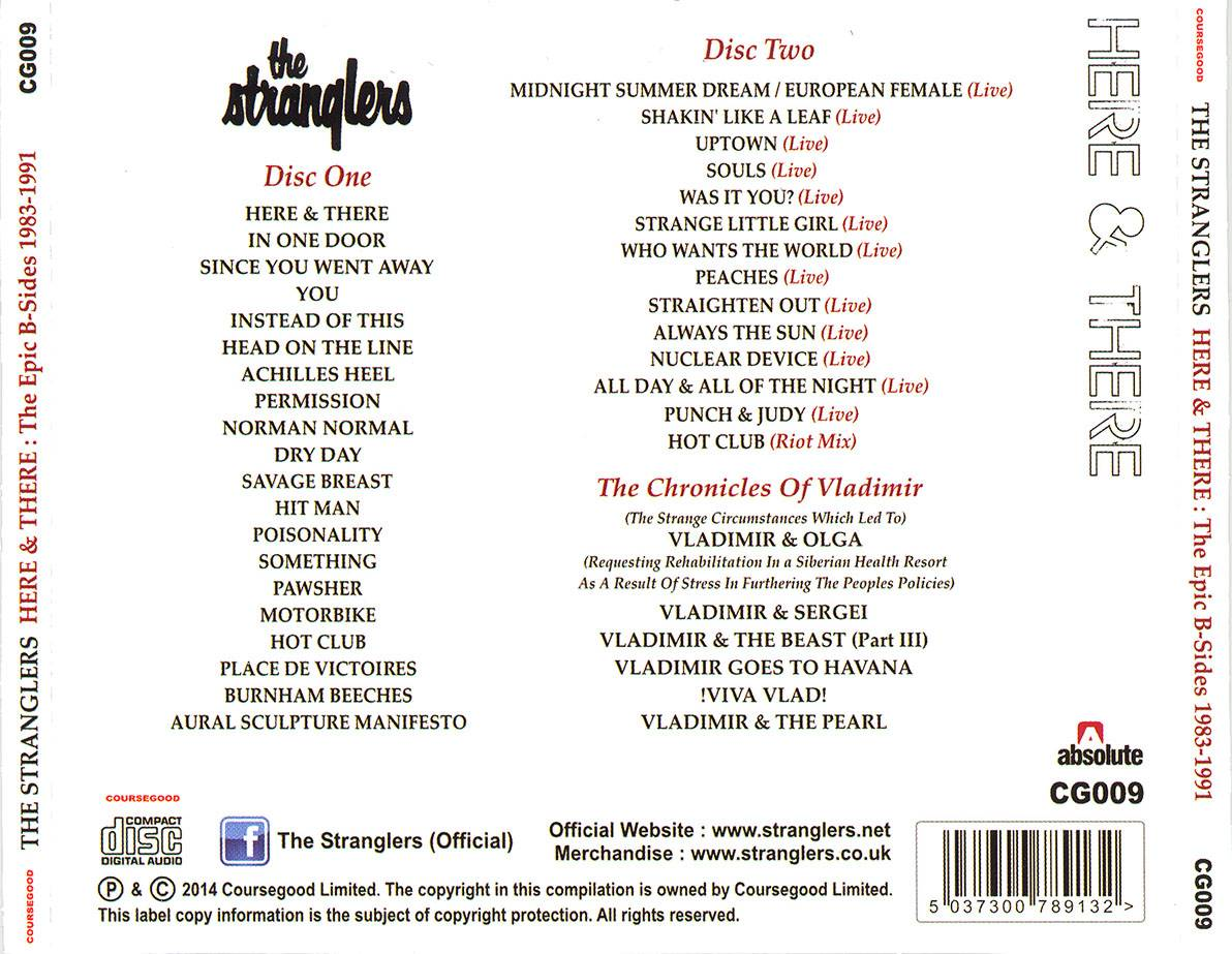 The Stranglers Here Amp There The Epic B Sides Collection