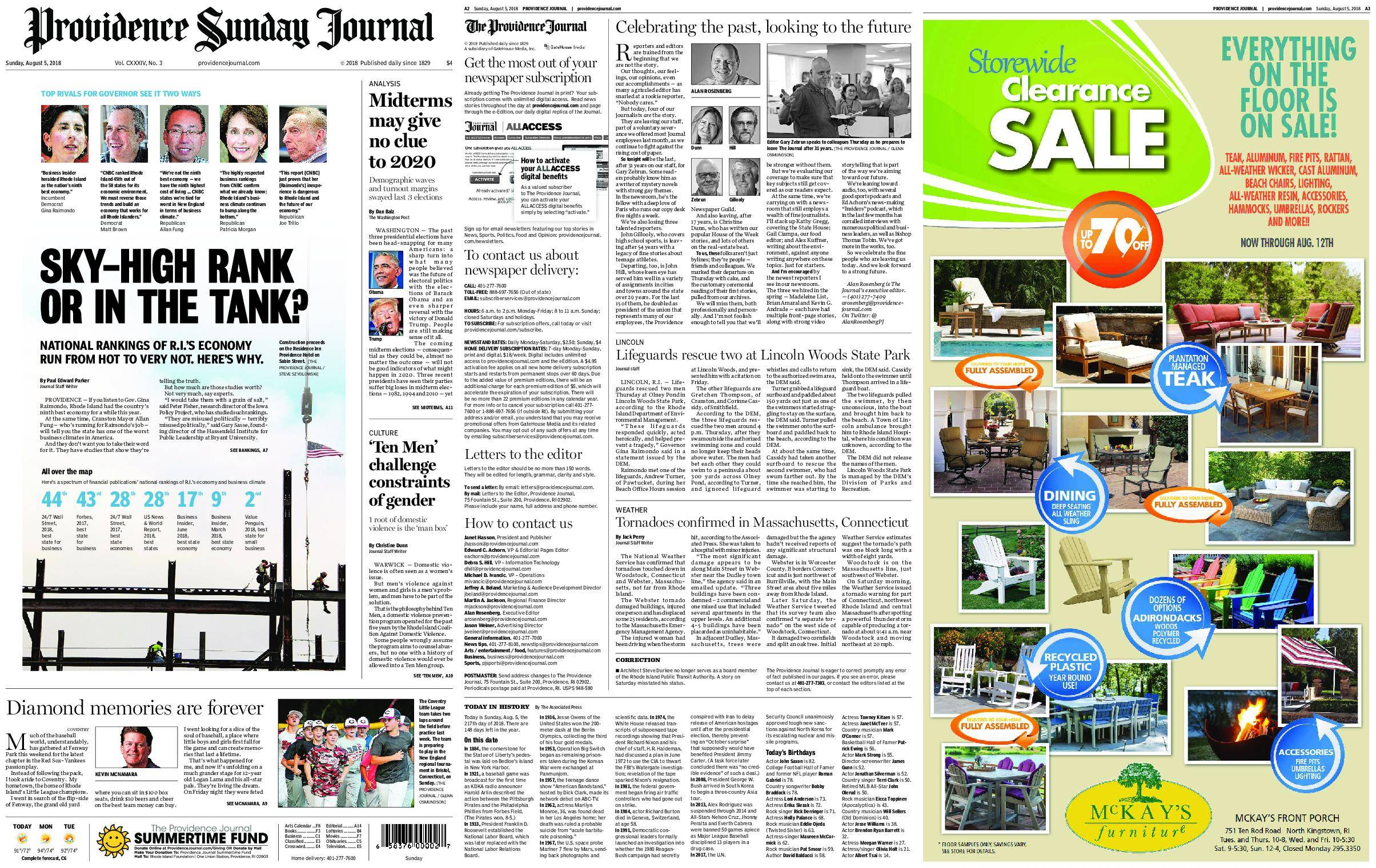 The Providence Journal – August 05, 2018 / AvaxHome