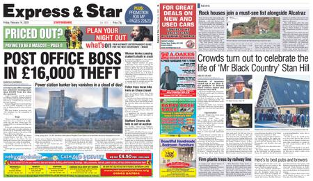 Express and Star Staffordshire Edition – February 14, 2020