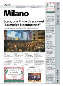 la Repubblica Milano - 8 Dicembre 2018