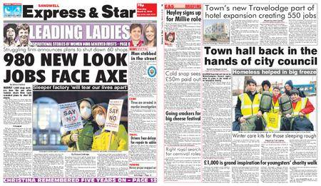 Express and Star Sandwell Edition – March 08, 2018