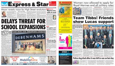 Express and Star Sandwell Edition – October 26, 2018