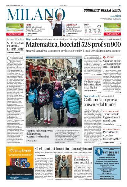 Corriere della Sera Edizioni Locali - 9 Febbraio 2017