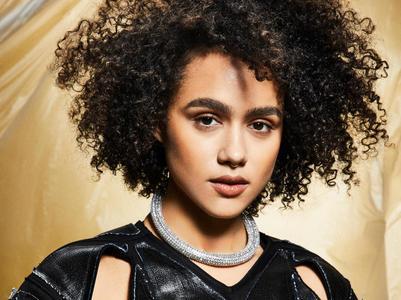 Nathalie Emmanuel by Allie Holloway for ELLE May 2019