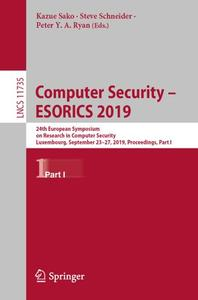 Computer Security – ESORICS 2019