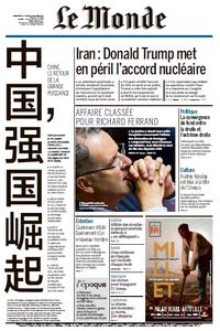 Le Monde du Dimanche 15 et Lundi 16 Octobre 2017