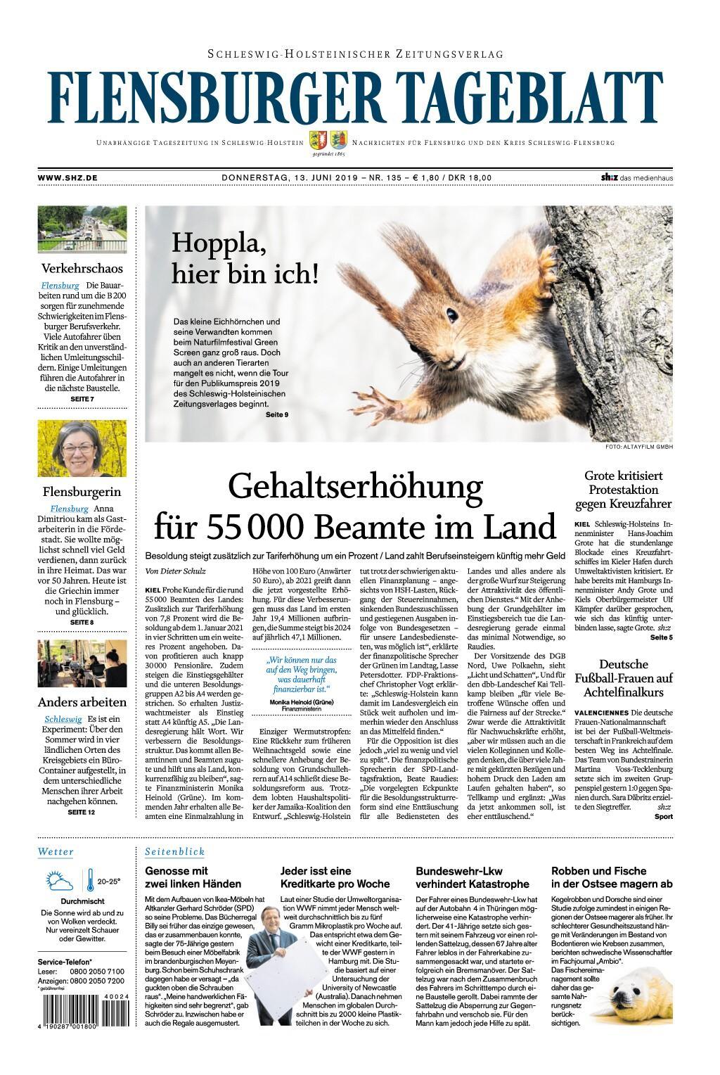 Flensburger Tageblatt - 13. Juni 2019