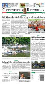 Greenfield Recorder - 2 August 2021