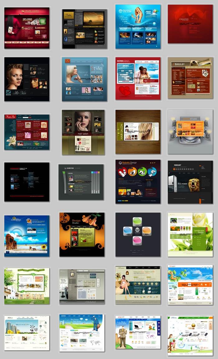 5isucai.com Flash Web Templates Collections DVD 1