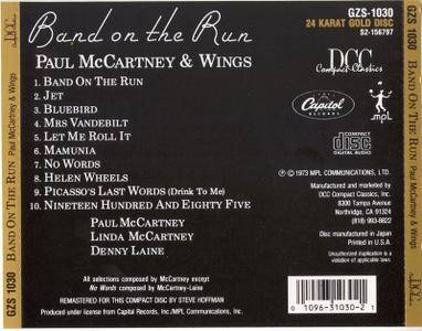 Paul McCartney & Wings - Band on the Run (1973) [DCC, GZS-1030]