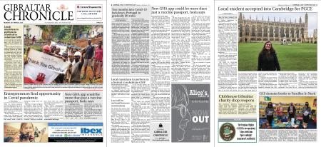 Gibraltar Chronicle – 15 March 2021
