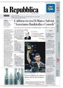 la Repubblica - 10 Febbraio 2019