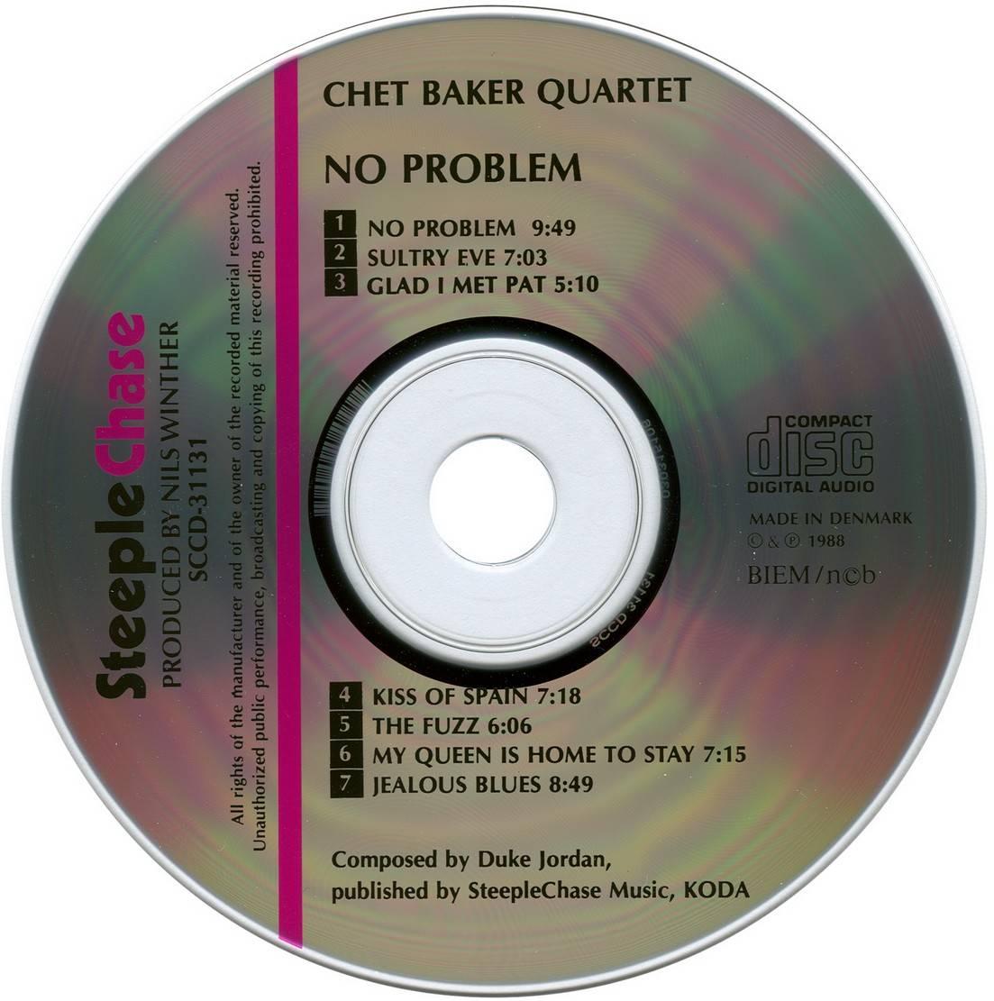 Chet Baker Quartet No Problem 1979 Steeplechase