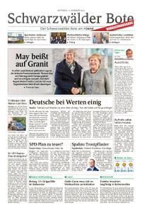 Schwarzwälder Bote St. Georgen, Triberg, Furtwangen - 12. Dezember 2018