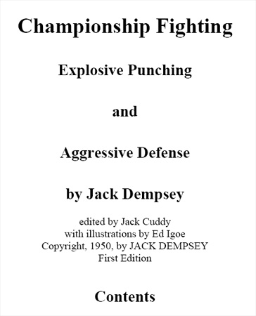 Championship Fighting by Jack Dempsey (1950)